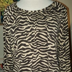 Brown Zebra Print Top